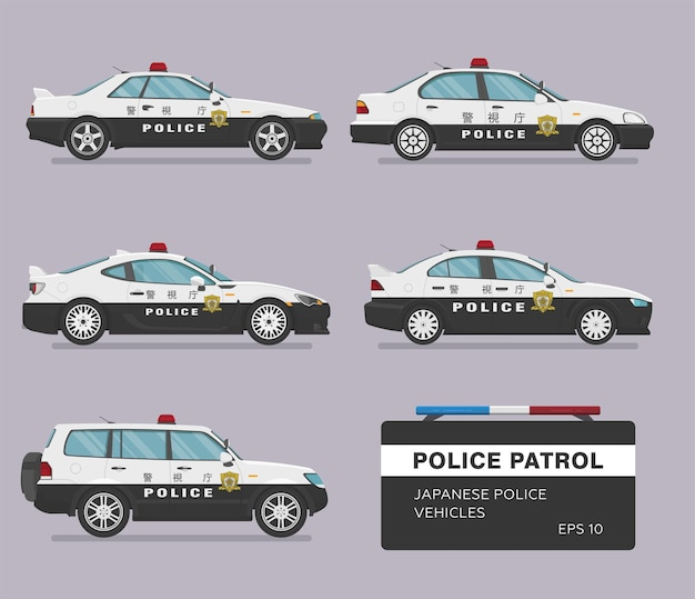 Carros policiais japoneses