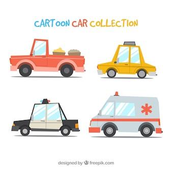 Carros profissionais com estilo engraçado