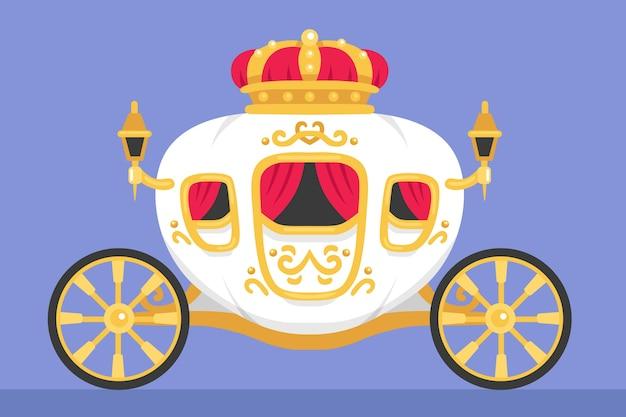 Carruagem de conto de fadas rei e rainha modelo