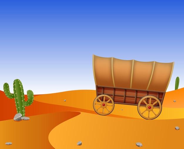 Carruagem no deserto