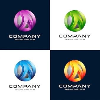 Carta 3d abstrata um logotipo