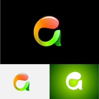 Carta 3d um logotipo moderno