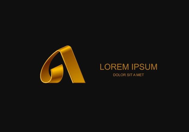 Carta a modelo estilizado do logotipo do emblema, ideia universal de tecnologia de negócios