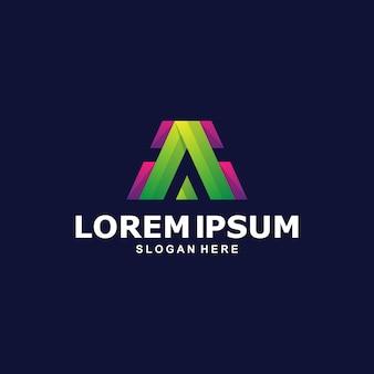 Carta abstrata colorida a modelo de logotipo