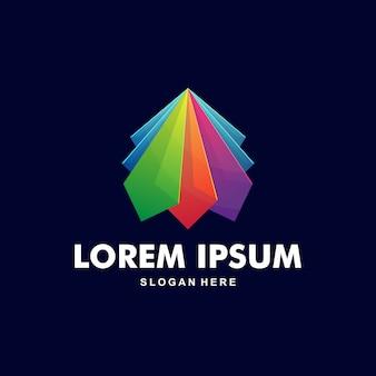 Carta abstrata colorida um logotipo premium
