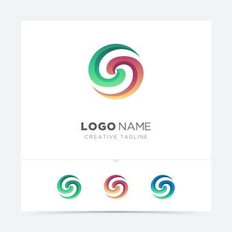 Carta abstrata furacão logotipo variação