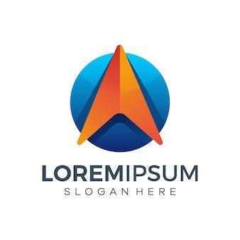 Carta abstrata um design de logotipo