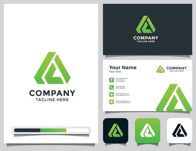 Carta abstrata um logotipo com cartão de visita