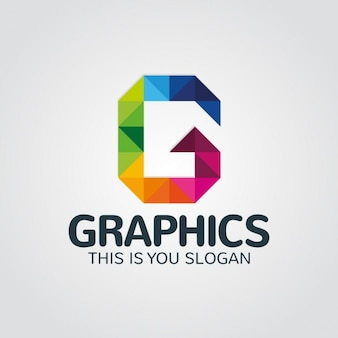 Carta abstrato colorido g logo