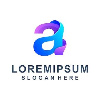 Carta colorida um logotipo premium