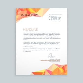 Carta com decoração poligonal