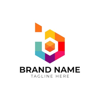 Carta comercial b vetor design de logotipo da empresa. modelo de vetor logotipo colorido letra b. logotipo da letra b para tecnologia.