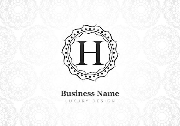 Carta criativa de luxo premium h logotipo para empresa