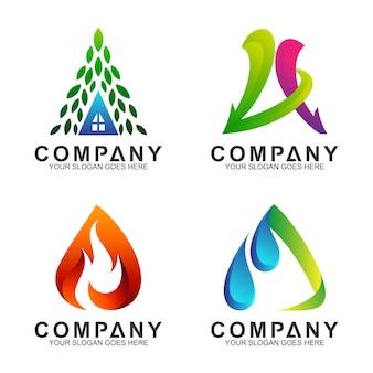 Carta criativa uma coleção de logotipos