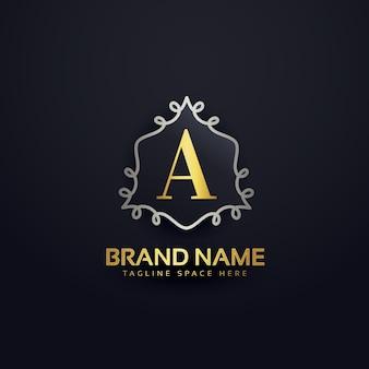 Carta criativo um monograma modelo de logotipo
