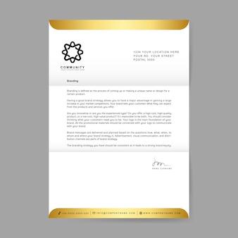 Carta da empresa