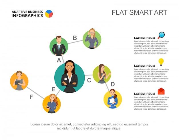 Carta da hierarquia do infographics do negócio para o conceito do pessoal do negócio.