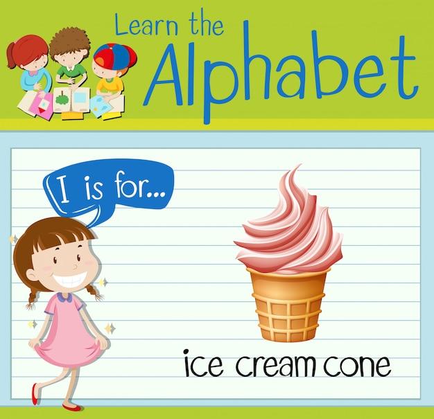 Carta de cartão de memória eu é para casquinha de sorvete