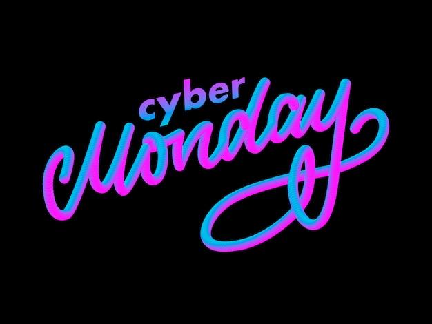 Carta de cyber segunda-feira. banner de venda segunda-feira cyber.