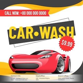 Carta de design de cartaz de carro, cartaz, folheto ou cartão de tarifa para seu negócio.