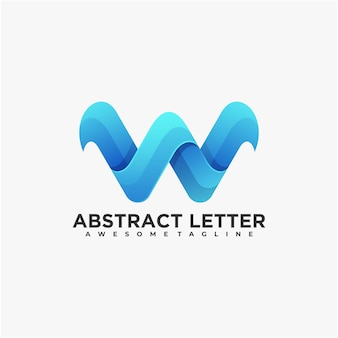 Carta de design de logotipo abstrato cor moderna