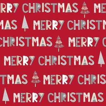 Carta de feliz natal sem emenda sobre fundo vermelho