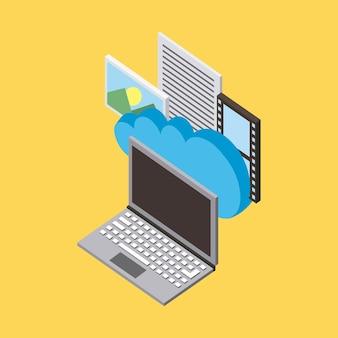 Carta de foto de armazenamento de computação em nuvem