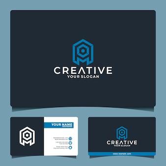 Carta de ideia criativa um modelo de design de logotipo de inspiração