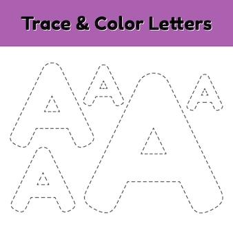 Carta de linha de rastreamento para crianças do jardim de infância e pré-escola