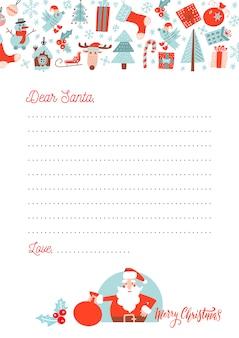 Carta de natal ao papai noel