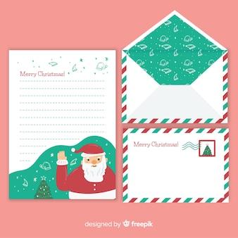 Carta de natal com envelope