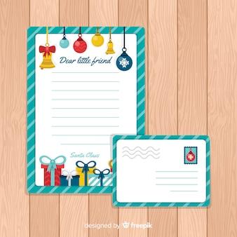 Carta de natal e envelope
