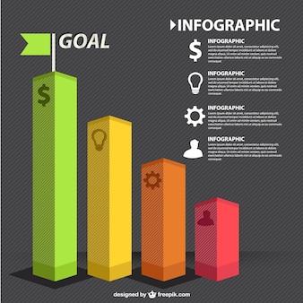 Carta de negócio infográfico vetor