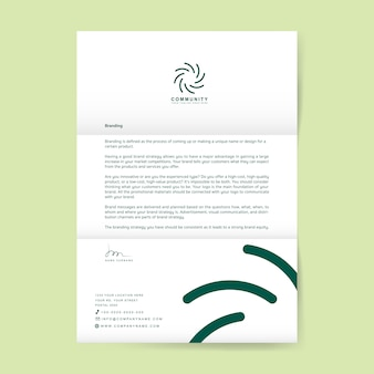 Carta de negócios com logotipo