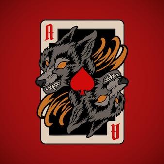 Carta de pôquer lobo