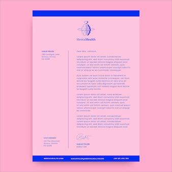 Carta de saúde mental duotone