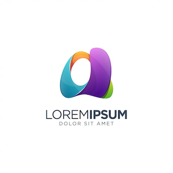Carta de um modelo de logotipo