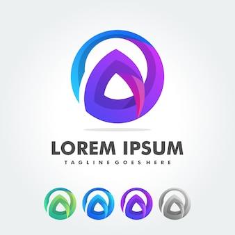 Carta de um modelo de vetor de design de logotipo