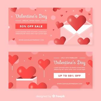 Carta e caixa de venda dos namorados