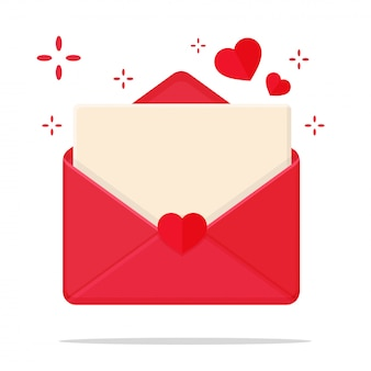 Carta em forma de coração para escrever em seu coração para enviar ao seu amante durante o dia dos namorados.