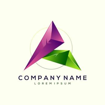 Carta impressionante um design de logotipo