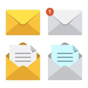 Carta no envelope de correio