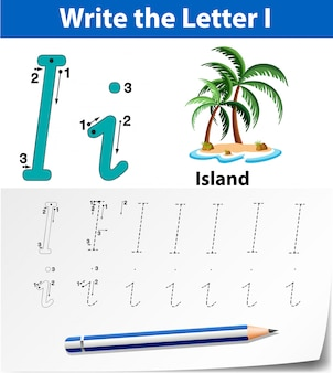 Carta que eu traçando planilhas de alfabeto