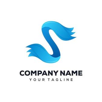 Carta s, logotipo, desenho