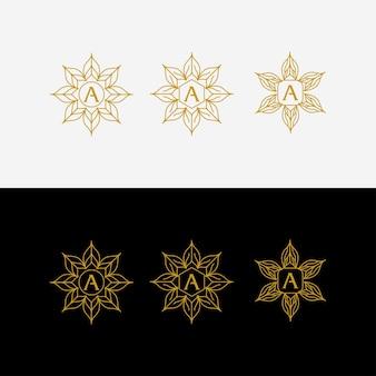 Carta um belo design de logotipo
