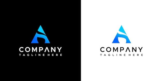 Carta um design de logotipo