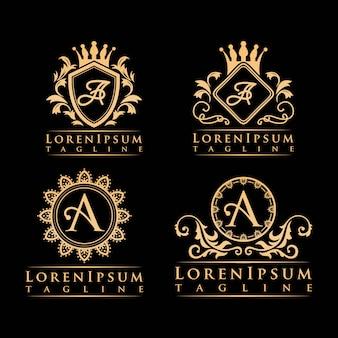 Carta um logotipo de luxo