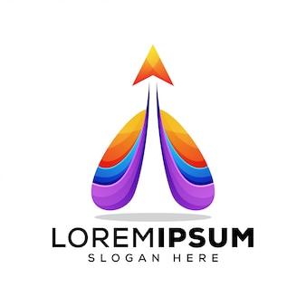 Carta um logotipo flyng