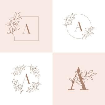 Carta uma ilustração em vetor logotipo