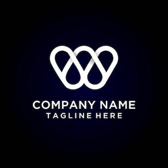 Carta w logo moderno